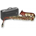 Stagg 77-SA/RD Alt Saxophon in ROT mit Hoch Fis-Klappe im ABS-Koffer