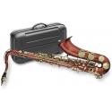 Stagg 77-ST/RD Tenor Saxophon in rot mit Hoch Fis-Klappe im ABS-Koffer