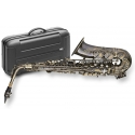 Stagg 77-SA/VL Alt Saxophon im VINTAGE LOOK Hoch Fis-Klappe im ABS-Koffer