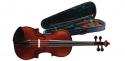 Stagg Geigenset 1/2 vollmassive Violingarnitur mit Ebenholzgriffbrett im Softkoffer