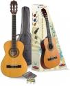 Stagg C510 1/2 Klassikgitarren-Set in natur mit Fichtendecke