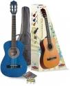 Stagg C510BL 1/2 Klassikgitarren-Set in blau mit Fichtendecke