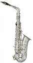 Stagg 77-SA/SL Alt Saxophon in SILBER mit Hoch Fis-Klappe im ABS-Koffer