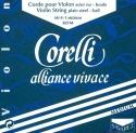 Corelli Alliance Saitensatz 4/4 Geige/Violine E-Saite Stahl Schlinge dünn