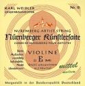 Nürnberger Künstler Saitensatz 4/4 Geige/Violine Chromstahl umsponnen Seilkern mittel