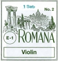 Romana Saitensatz 4/4 Geige/Violine Darm E-Saite Stahl blank mittel