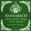 Hannabach Saiten schwarz für Klassik Gitarre Nylon PR. Silberspezial