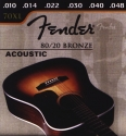 Fender Gitarrensaite E6 für Akustik-Gitarre Bronze