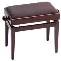 Stagg Klavierbank mit Notenfach in Mahagoni poliert mit braunem Stoffbezug