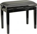 Burghardt Klavierbank B5 Schwarz poliert schwarzer Echtlederbezug (Rindsleder) - Made in Europe