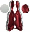 Steinbach 4/4 ABS- Cellokoffer mit Rollen und Rucksacksystem in silber