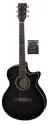 Tenson 4/4 Elektro-Akustik Westerngitarre in blackburst mit Fichtendecke GA-10CE