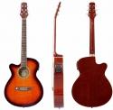 Tenson 4/4 Elektro-Akustik Westerngitarre in violinburst mit Fichtendecke GA-10CE für Linkshänder
