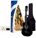 GEWApure 3/4 Konzertgitarren Starter-Set mit schwarzer Gitarre inkl. Zubehör