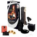 GEWApure 4/4 E-Gitarre Starter-Set mit schwarzer Gitarre inkl. Zubehör