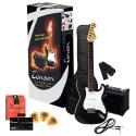 Tenson 4/4 E-Gitarre Starter-Set mit gothic black Gitarre inkl. Zubehör