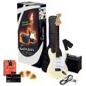 Tenson 4/4 E-Gitarre Starter-Set mit vintage white Gitarre inkl. Zubehör