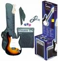 Tenson 4/4 E-Gitarre Starter-Set mit sunburst Gitarre inkl. Zubehör