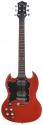 Tenson 4/4 E-Gitarre SD-Set Neck in transparent rot für Linkshänder