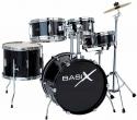 Basix Kinderschlagzeug in schwarz Set 3