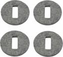 Steinbach Filzscheiben selbstklebend 55 mm grau für Untersetzer 4 Stüc
