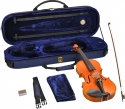 Steinbach 1/2 Geige im SET Ebenholzgarnitur wunderschön geflammt