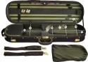 Steinbach 4/4 Geigenkoffer mit abgerundeten Ecken grün Zierborde und Rucksacksystem