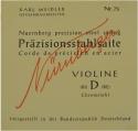Nürnberger Präzision D-Saite 4/4 Geige/Violine Chromstahl umsponnen mittel