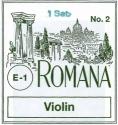 Romana Saitensatz 4/4 Geige/Violine E-Saite Stahl blank mittel