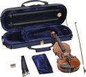 Steinbach 1/16 Geige im SET Ebenholzgarnitur poliert angeflammter Boden