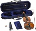 Steinbach 1/2 Geige im SET Ebenholzgarnitur poliert angeflammter Boden
