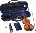 Steinbach 1/4 Geige im SET Ebenholzgarnitur angeflammter Boden Orangebraun