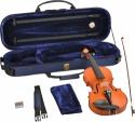 Steinbach 3/4 Geige im SET Ebenholzgarnitur angeflammter Boden Orangebraun