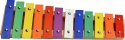 Steinbach Glockenspiel 12 bunte Klangplatten diatonisch Tonumfang c''- g'''