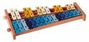 Basix Glockenspiel G27 27 bunte Klangplatten chromatisch Tonumfang g'-a'''