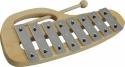Steinbach Glockenspiel 8 silberne Klangplatten diatonisch Tonumfang c''-c'''