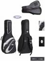 4/4 Jaeger Gitarrentasche in schwarz-anthrazit für Konzertgitarre 20mm Peak