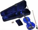 Steinbach 1/4 Geige im SET blau mit Blumendekor handgearbeitet