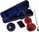 Steinbach 1/32 Geige im SET rot mit Blumendekor handgearbeitet