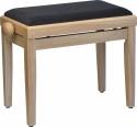 Steinbach 401 Klavierbank in Natur matt mit schwarzer Stoffsitzauflage