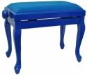 Steinbach Klavierbank in blau poliert mit Chippendale Beinen