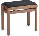 Stagg Klavierbank in Kirsch matt mit schwarzem Stoffbezug
