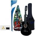 GEWApure 4/4 Konzertgitarre Starter-Set mit schwarzer Gitarre inkl. Zubehör