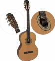 Steinbach 3/4 Konzertgitarre mit selektierter stark gemaserter Fichtendecke natur u. Sapelli Boden
