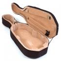 Menzel 1/2 Cellokoffer CC50, Styrofoam-Schale, Rucksackgarnitur, schwarzer Bezug, innen beige