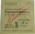 Nürnberger Präzision E-Saite 1/2 Geige/Violine Chromstahl mittel