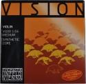 Thomastik VI100 Vision Saitensatz 1/16 Geige/Violine Nylonkern E-Saite Stahl verzinnt mittel