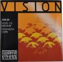 Thomastik VI100 Vision Saitensatz 1/2 Geige/Violine Nylonkern E-Saite Stahl verzinnt mittel