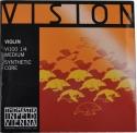 Thomastik VI100 Vision Saitensatz 1/4 Geige/Violine Nylonkern E-Saite Stahl verzinnt mittel
