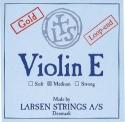 Larsen Saitensatz 4/4 Geige/Violine E-Saite Stahl blank Schlinge dünn